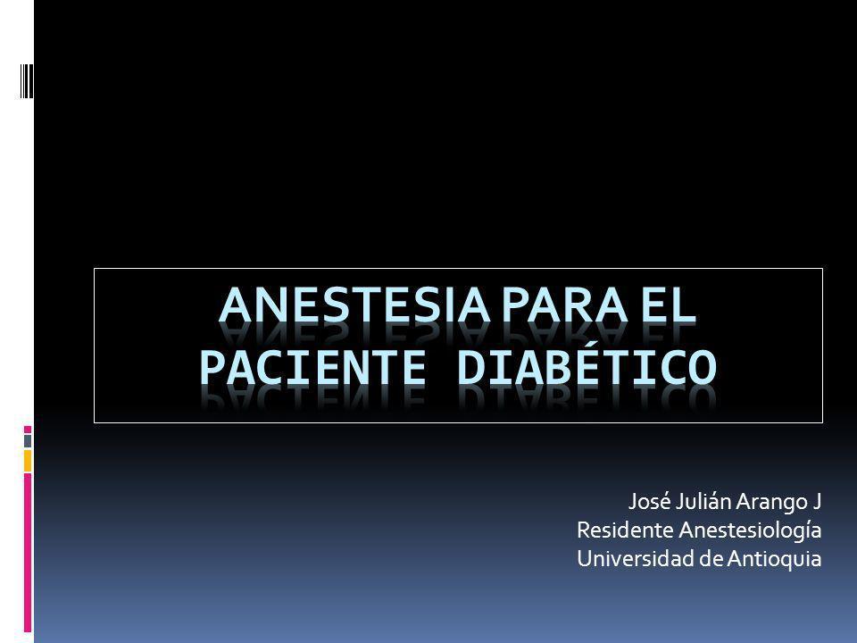 José Julián Arango J Residente Anestesiología Universidad de Antioquia