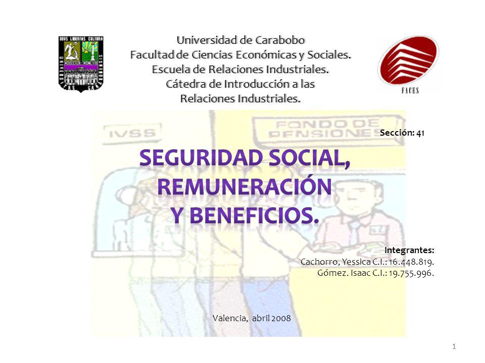 1 Universidad de CaraboboUniversidad de Carabobo Facultad de Ciencias Económicas y Sociales.Facultad de Ciencias Económicas y Sociales. Escuela de Rel