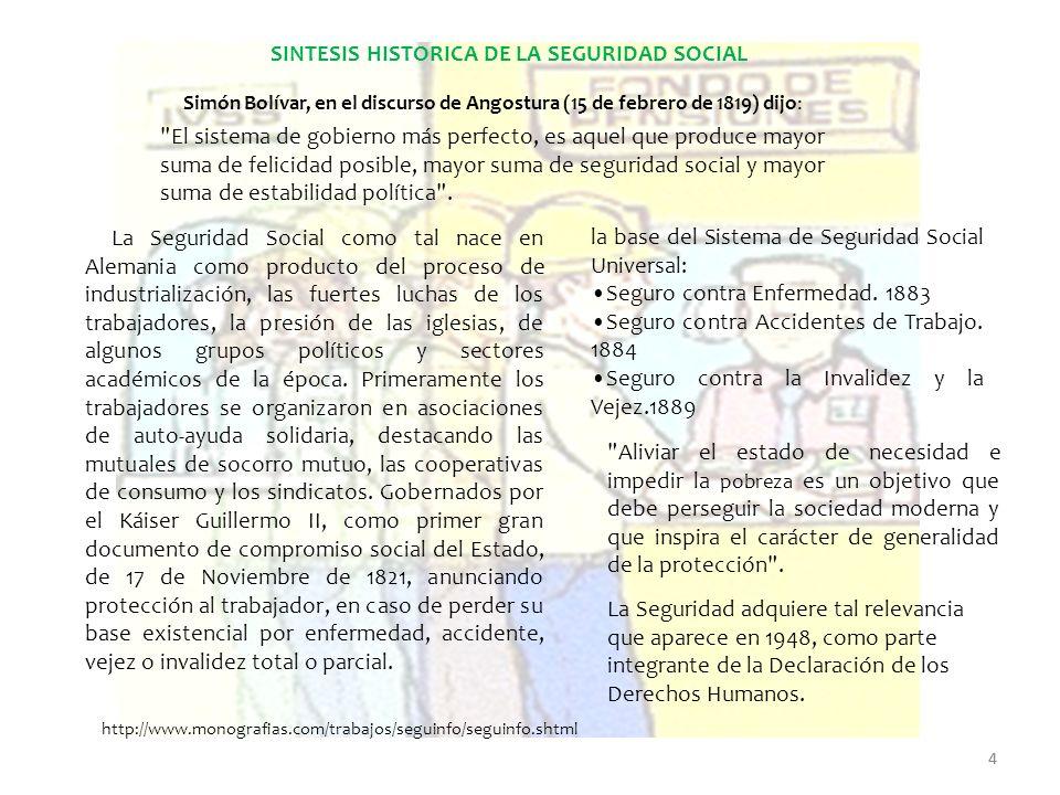 4 SINTESIS HISTORICA DE LA SEGURIDAD SOCIAL
