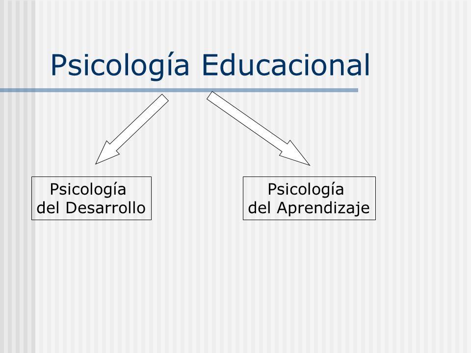 Psicología Educacional Psicología del Desarrollo Psicología del Aprendizaje