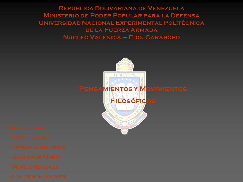 Republica Bolivariana de Venezuela Ministerio de Poder Popular para la Defensa Universidad Nacional Experimental Politécnica de la Fuerza Armada Núcle