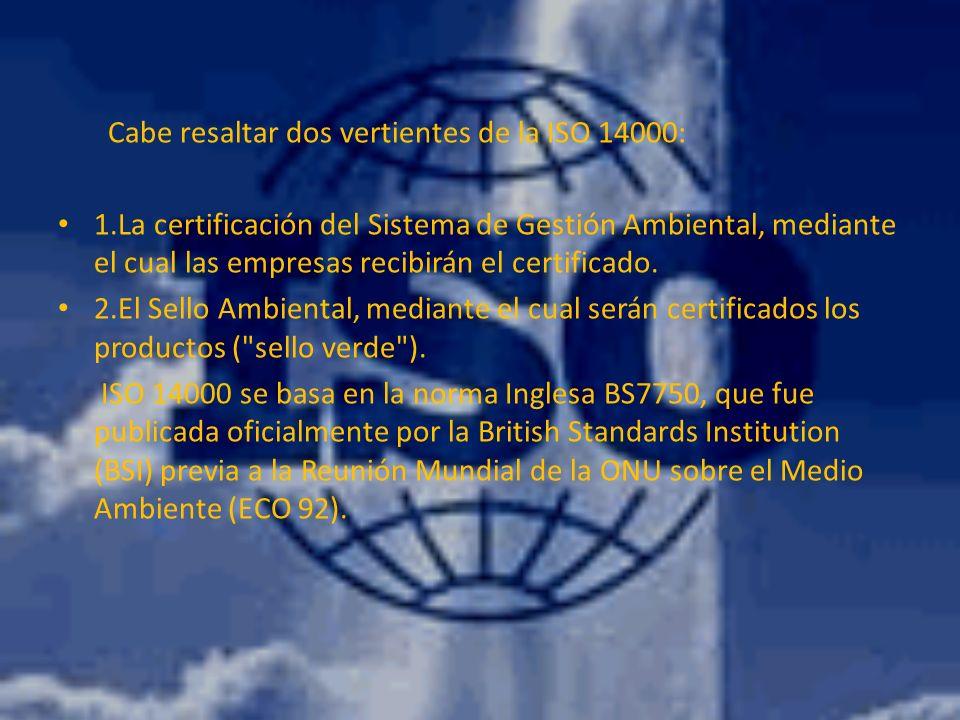 ¿ES NECESARIO LA ISO 14000.