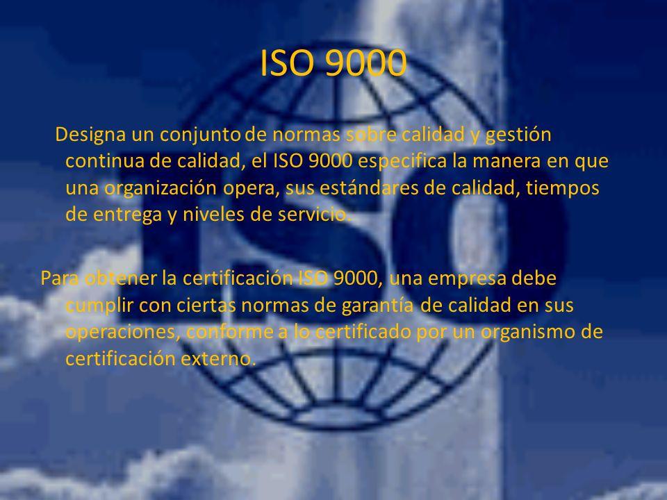 ISO 9001 - ISO 9002 ISO 9001 se aplica a las empresas que se dedican al diseño de productos o servicios y también a su producción o implementación.