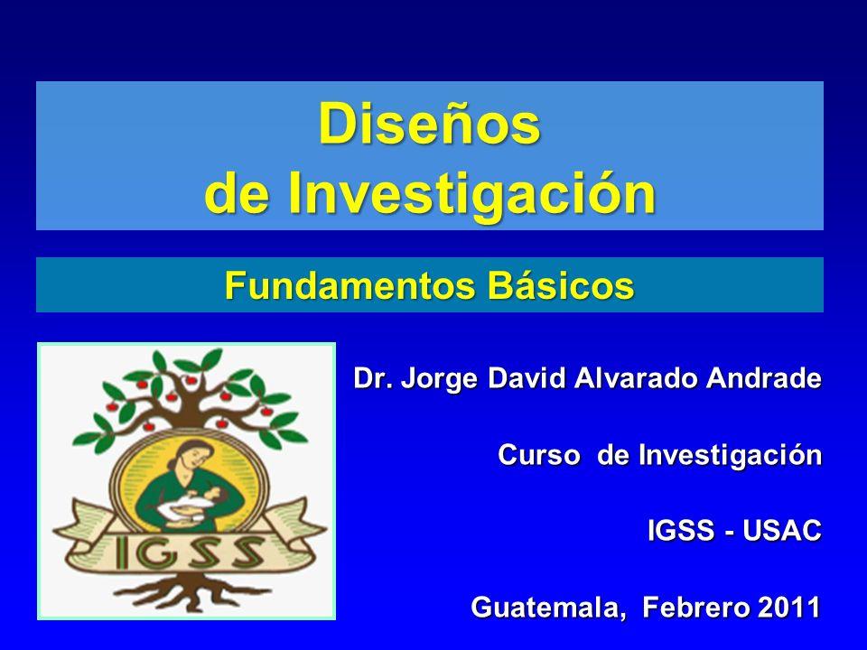 Objetivos de aprendizaje Describir la clasificación de los estudios.Describir la clasificación de los estudios.