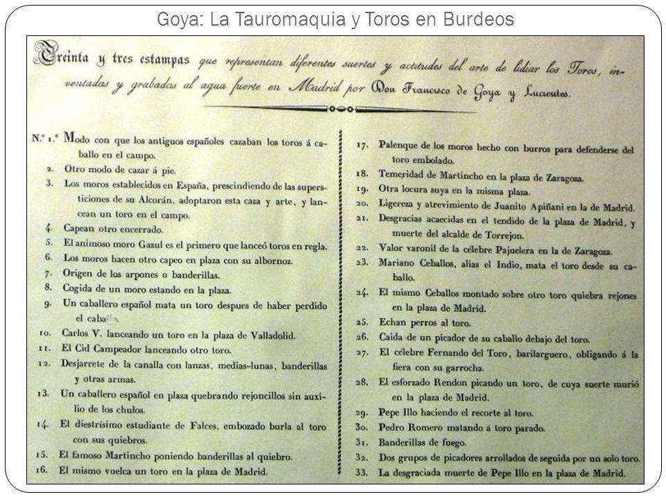 Goya: La Tauromaquia y Toros en Burdeos 10. Carlos V lanceando un toro en la plaza de Valladolid