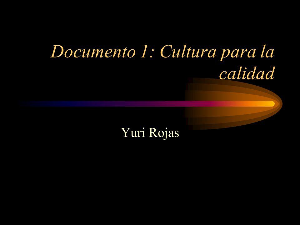 Documento 1: Cultura para la calidad Yuri Rojas