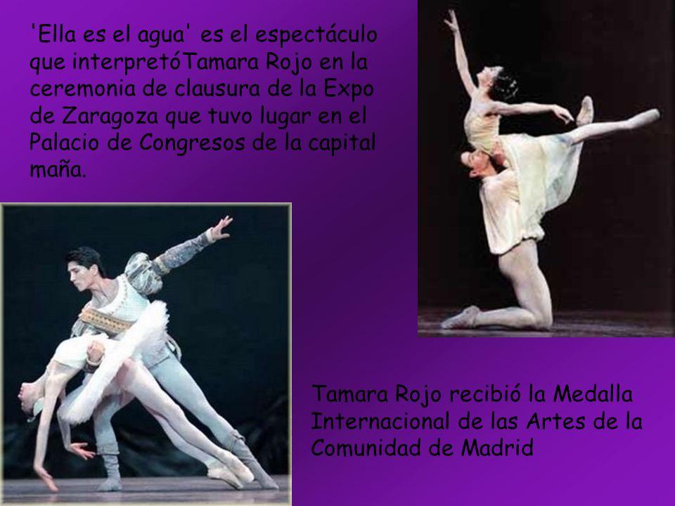'Ella es el agua' es el espectáculo que interpretóTamara Rojo en la ceremonia de clausura de la Expo de Zaragoza que tuvo lugar en el Palacio de Congr