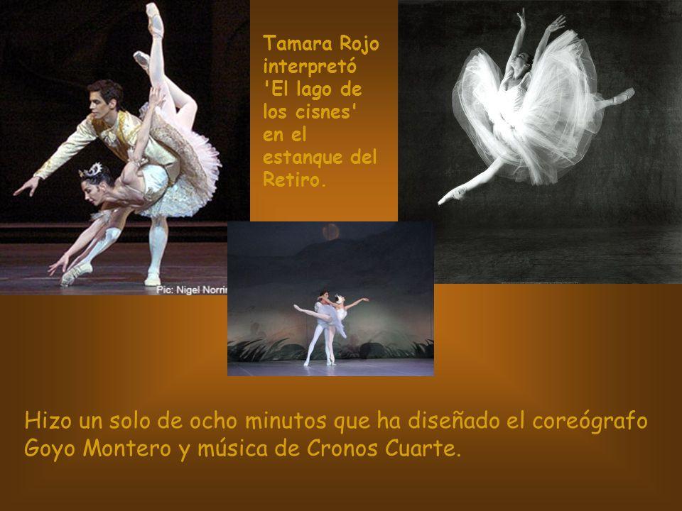 Tamara Rojo interpretó 'El lago de los cisnes' en el estanque del Retiro. Hizo un solo de ocho minutos que ha diseñado el coreógrafo Goyo Montero y mú