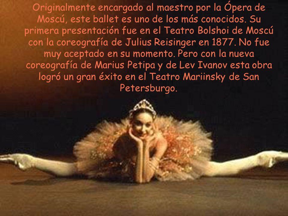 Originalmente encargado al maestro por la Ópera de Moscú, este ballet es uno de los más conocidos. Su primera presentación fue en el Teatro Bolshoi de