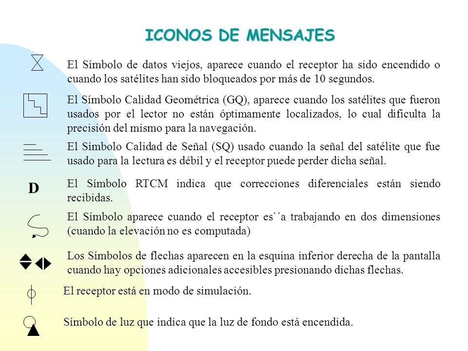 SISTEMA DE ENCENDIDO ON/OFF Verifying Memory 1 MAGELLAN 2 Posición 1 09º 59 37 N 69º 12 38 W 2 sats 3