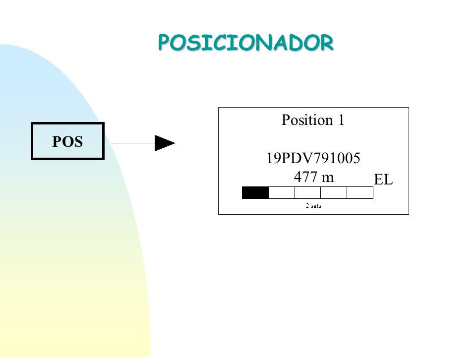 POSICIONADOR POS Position 1 19PDV791005 477 m 2 sats EL