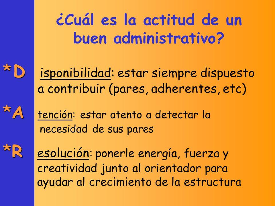 ¿Cuáles son las tareas principales de un administrativo.