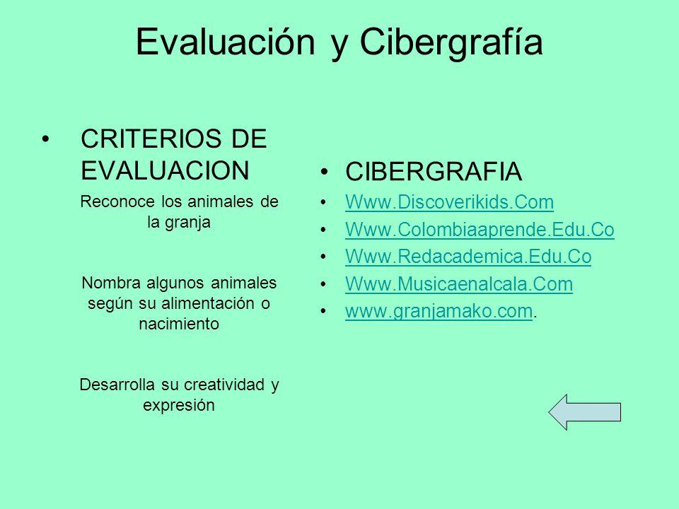Evaluación y Cibergrafía CRITERIOS DE EVALUACION CIBERGRAFIA Www.Discoverikids.Com Www.Colombiaaprende.Edu.Co Www.Redacademica.Edu.Co Www.Musicaenalca