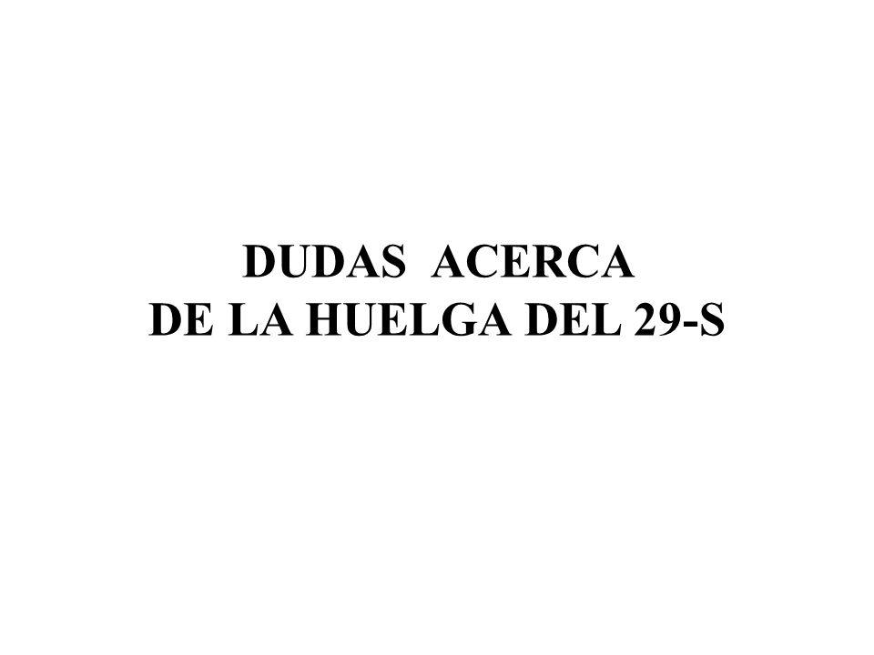 DUDAS ACERCA DE LA HUELGA DEL 29-S