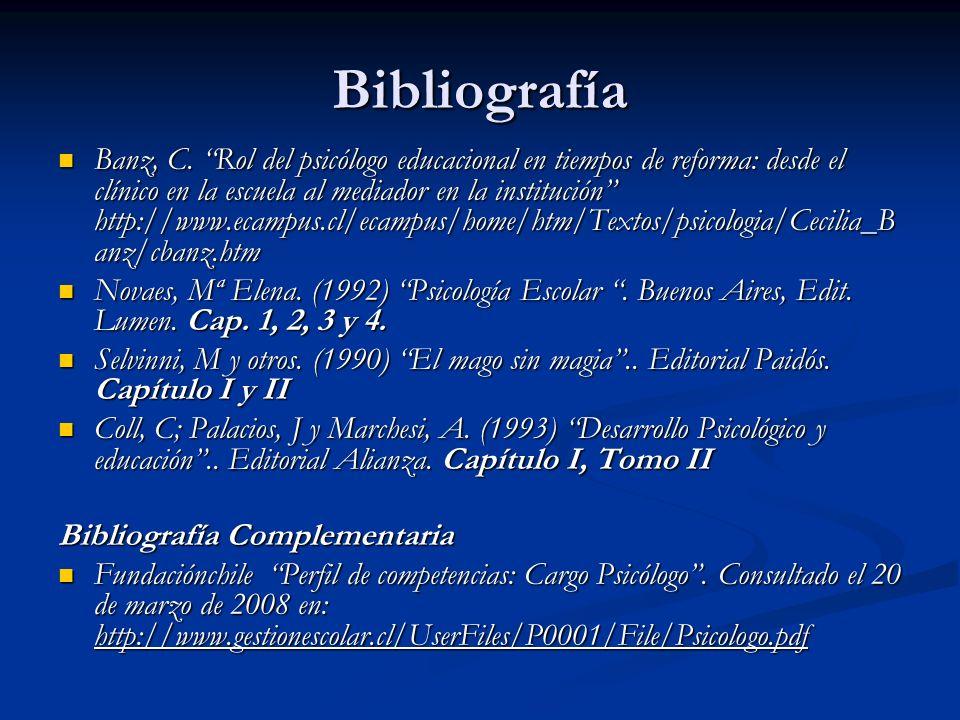Bibliografía Banz, C.