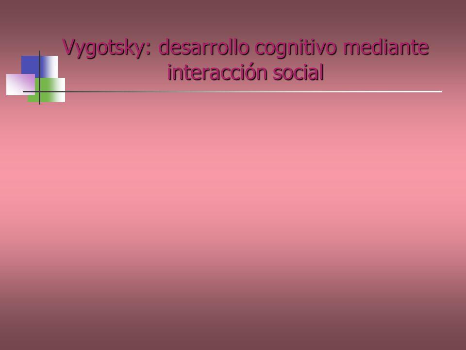 Vygotsky: desarrollo cognitivo mediante interacción social