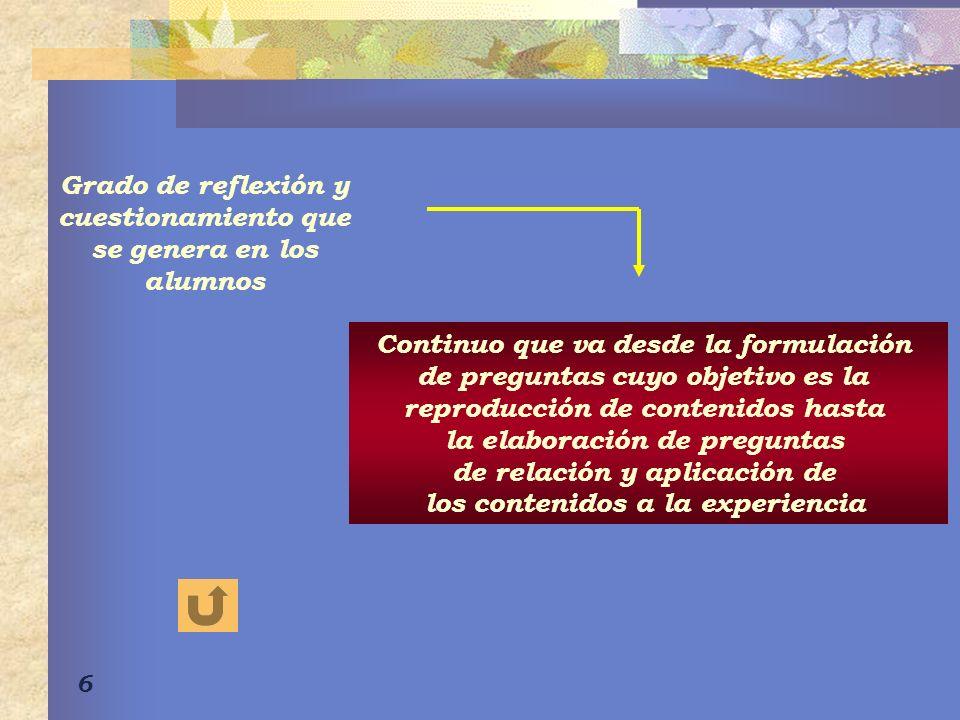 7 Estilo Directivo La responsabilidad del aprendizaje está centrada en el profesor, quien organiza la situación de aprendizaje, presenta los objetivos.