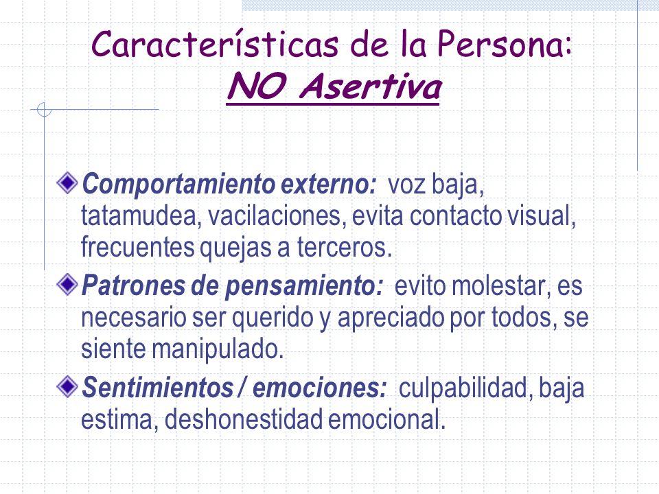 Estilos de comunicación No Asertivo Agresivo Asertivo