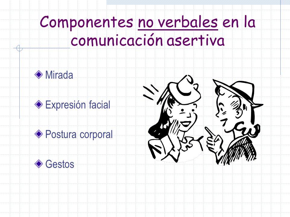 Características de la persona: ASERTIVA Comportamiento externo – conversación fluída, seguridad, contacto ocular directo, pero no desafiante, comodida