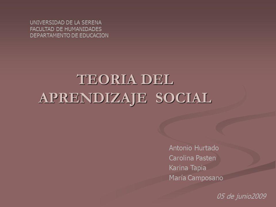 TEORIA DEL APRENDIZAJE DE ALBERT BANDURA TEORIA DEL APRENDIZAJE DE ALBERT BANDURA C Creador de la teoría social del aprendizaje, que se centra en los conceptos de imitación y observación.