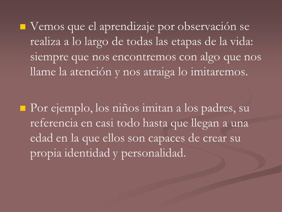 La imitación puede darse por los siguientes factores: Instinto: Las acciones observadas despiertan un impulso instintivo por copiarlas.