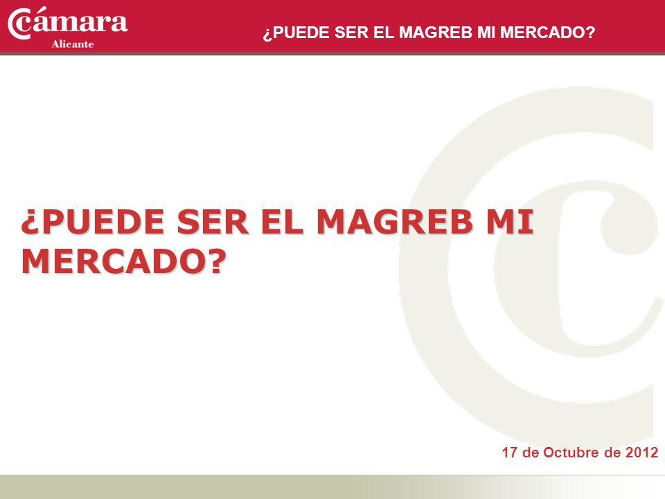 ¿PUEDE SER EL MAGREB MI MERCADO? 17 de Octubre de 2012 ¿PUEDE SER EL MAGREB MI MERCADO?