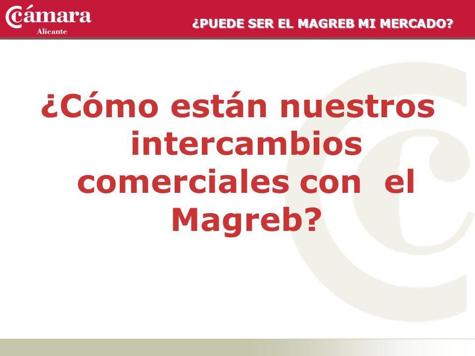 ¿Cómo están nuestros intercambios comerciales con el Magreb?