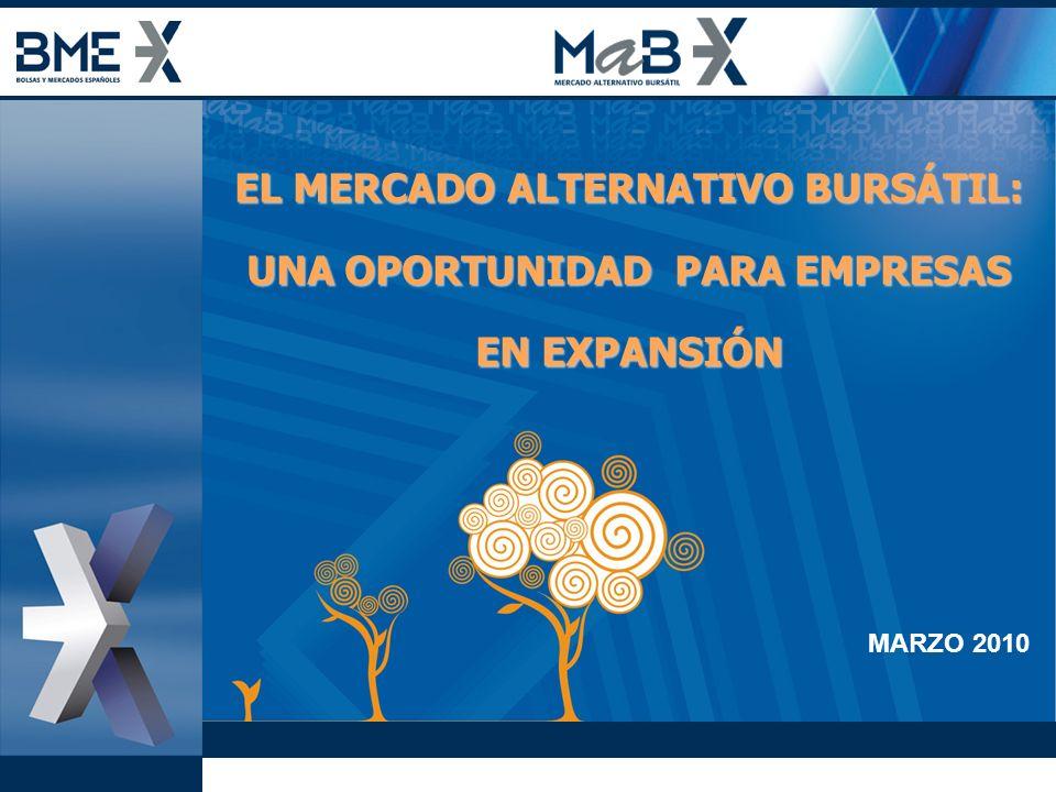 EL MERCADO ALTERNATIVO BURSÁTIL: UNA OPORTUNIDAD PARA EMPRESAS EN EXPANSIÓN MARZO 2010