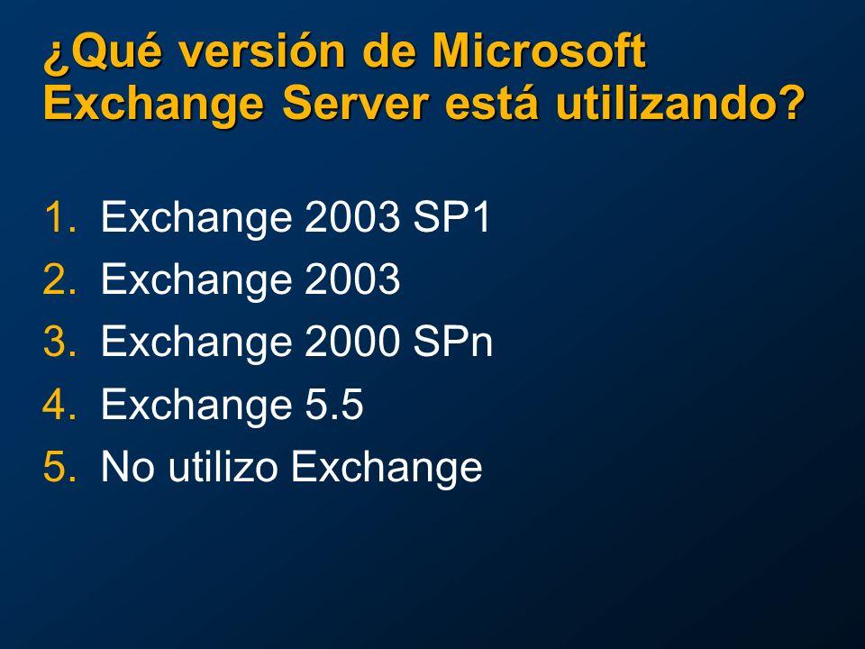 ¿Qué versión de Microsoft Exchange Server está utilizando.