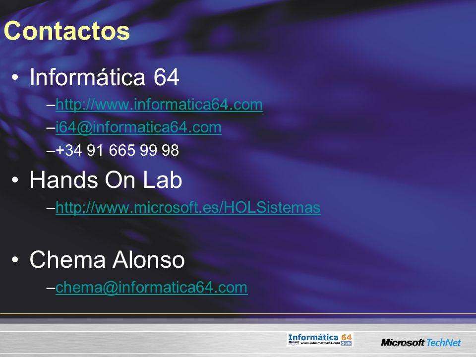 Contactos Informática 64 –http://www.informatica64.comhttp://www.informatica64.com –i64@informatica64.comi64@informatica64.com –+34 91 665 99 98 Hands