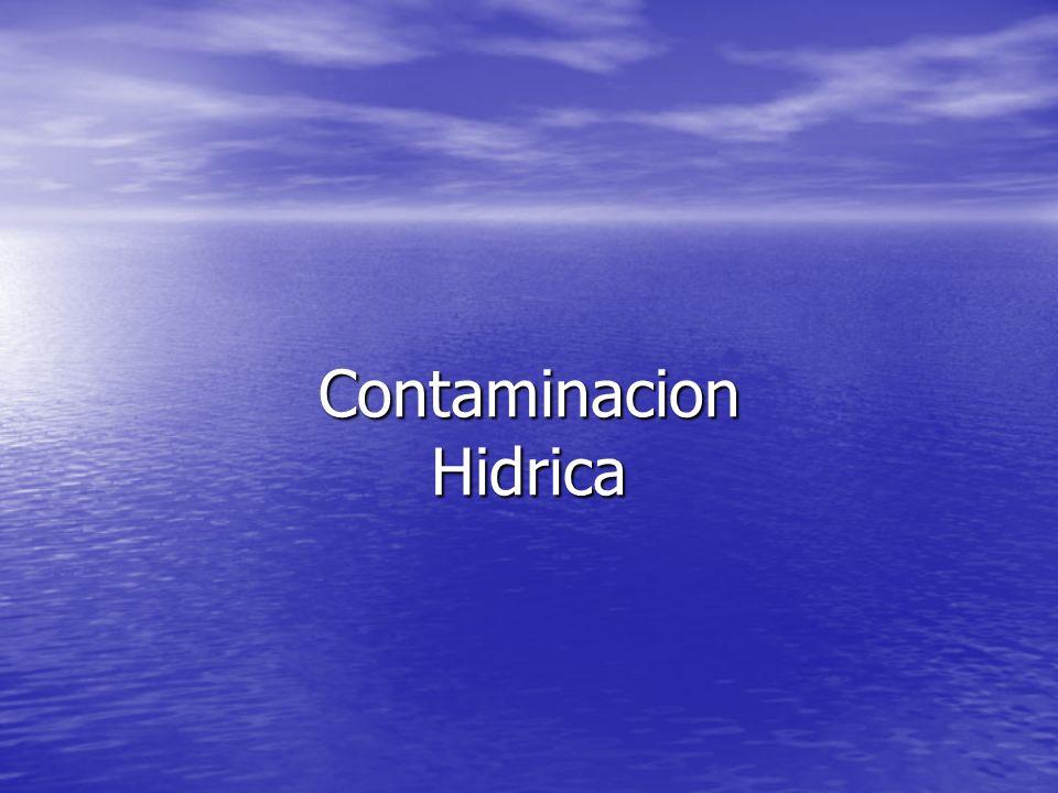 Contaminacion Hidrica