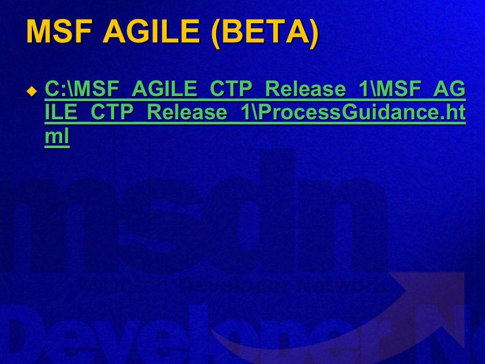MSF AGILE (BETA) C:\MSF_AGILE_CTP_Release_1\MSF_AG ILE_CTP_Release_1\ProcessGuidance.ht ml C:\MSF_AGILE_CTP_Release_1\MSF_AG ILE_CTP_Release_1\ProcessGuidance.ht ml C:\MSF_AGILE_CTP_Release_1\MSF_AG ILE_CTP_Release_1\ProcessGuidance.ht ml C:\MSF_AGILE_CTP_Release_1\MSF_AG ILE_CTP_Release_1\ProcessGuidance.ht ml