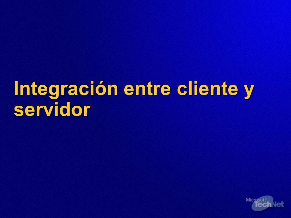 Integración entre cliente y servidor