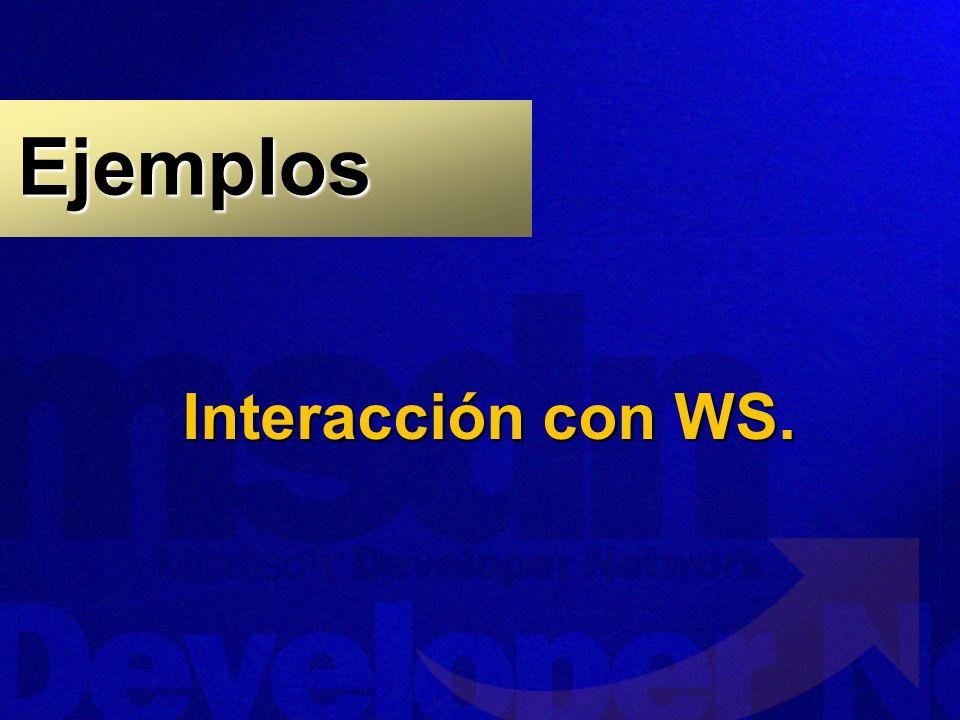 Interacción con WS. Ejemplos
