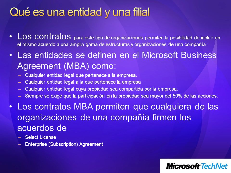 Acuerdo de alquiler de software, permite a la Universidad utilizar los productos Microsoft en todos los ordenadores durante uno o tres años.