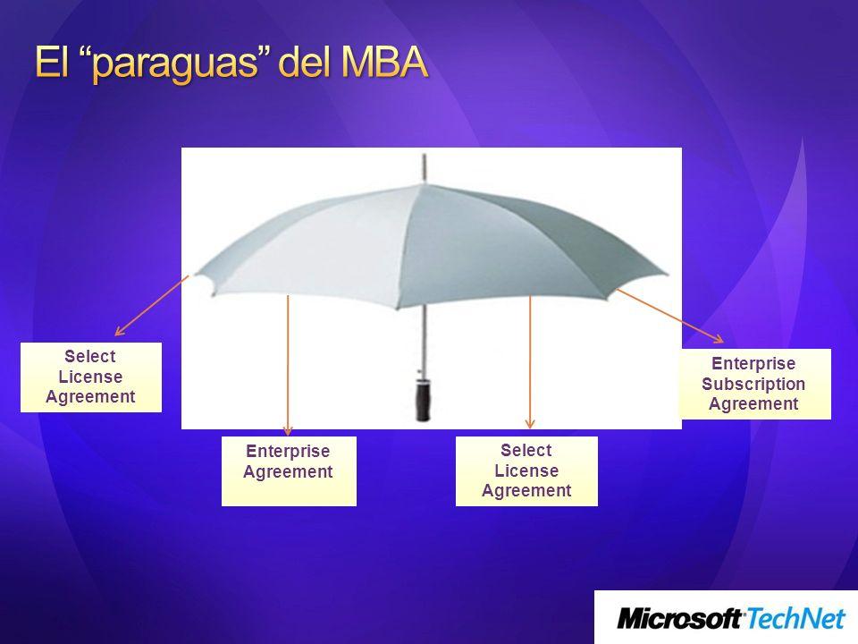 Los acuerdos específicos para Grandes Organizaciones se comercializan a través de los LARs (Large Account Reseller) En España son 16, y están publicados en la siguiente dirección http://www.microsoft.com/spain/partner/lars/ default.mspx
