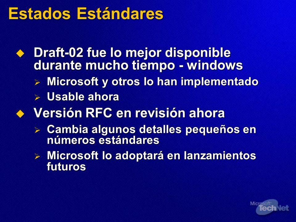 Estados Estándares Draft-02 fue lo mejor disponible durante mucho tiempo - windows Draft-02 fue lo mejor disponible durante mucho tiempo - windows Mic