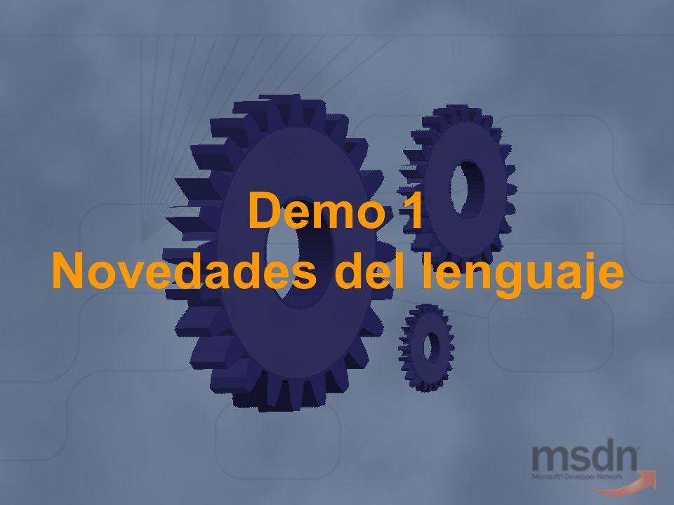 Demo 1 Novedades del lenguaje
