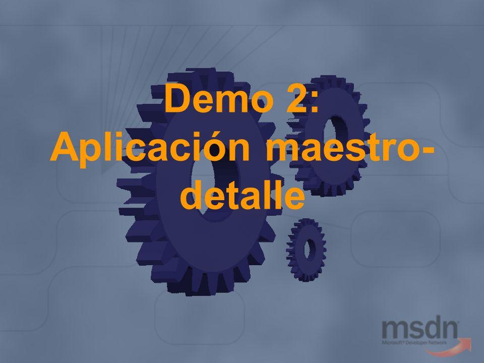Demo 2: Aplicación maestro- detalle