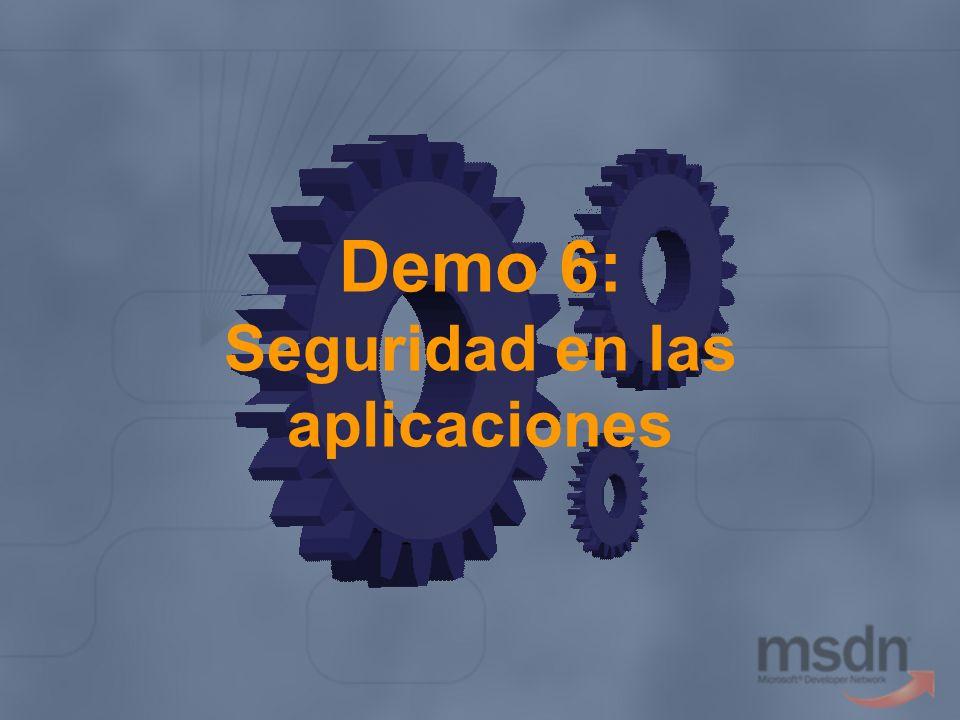 Demo 6: Seguridad en las aplicaciones