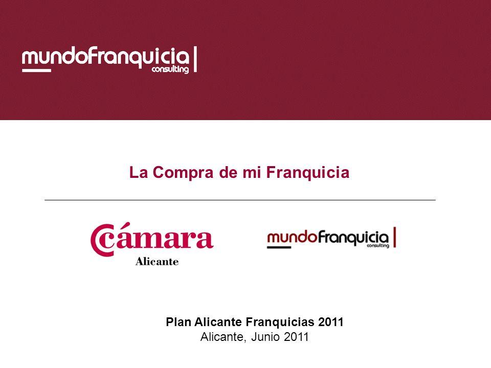 La Compra de mi Franquicia Plan Alicante Franquicias 2011 Alicante, Junio 2011