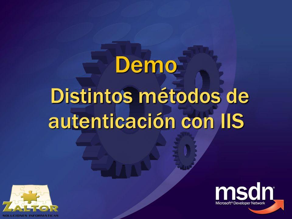 Demo Distintos métodos de autenticación con IIS Demo Distintos métodos de autenticación con IIS
