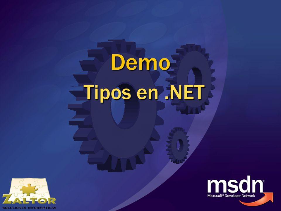 Demo Tipos en.NET