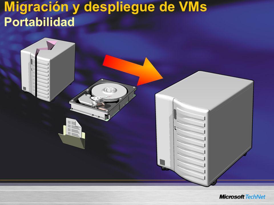 Migración y despliegue de VMs Portabilidad