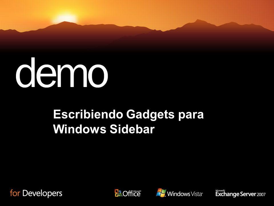Escribiendo Gadgets para Windows Sidebar