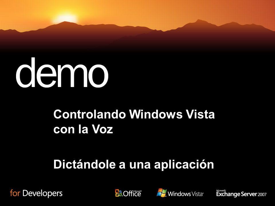 Controlando Windows Vista con la Voz Dictándole a una aplicación