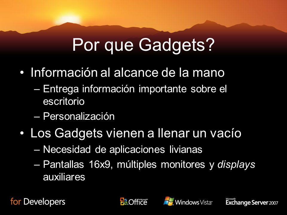 Por que Gadgets.
