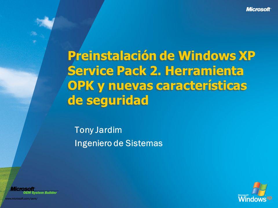 "La presentaci�n ""Preinstalaci�n de Windows XP Service Pack 2 ..."