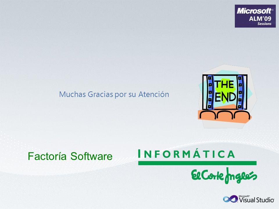 Muchas Gracias por su Atención Factoría Software