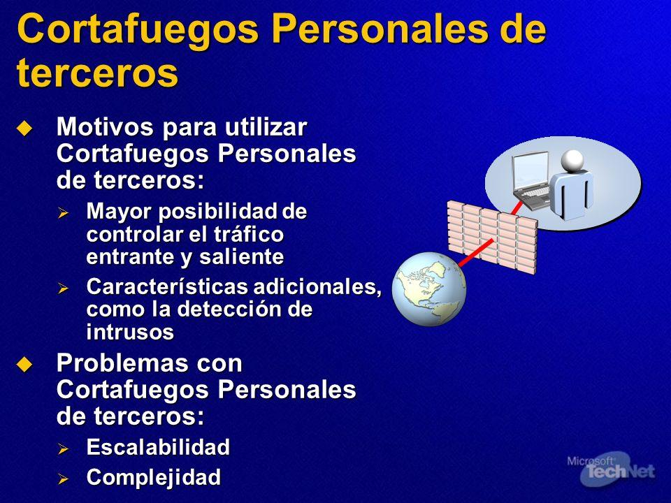 Cortafuegos Personales de terceros Motivos para utilizar Cortafuegos Personales de terceros: Motivos para utilizar Cortafuegos Personales de terceros: